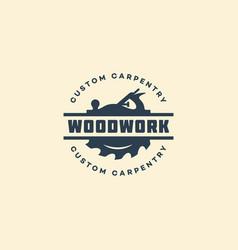 woodwork logo vector image