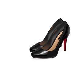 Black women shoes vector image vector image