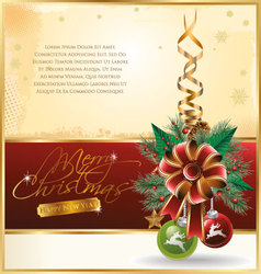 Christmas design background vector image vector image