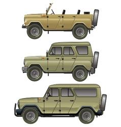 Offroad jeeps set vector image