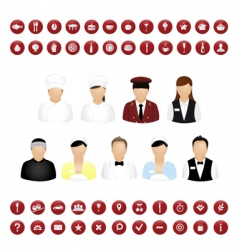 restaurant icons vector image vector image