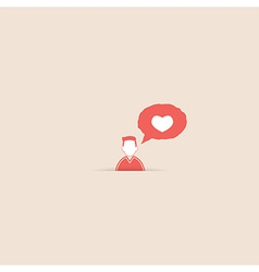 User message heart show the love vector image vector image