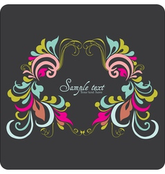 Vintage card design for greeting card vector image vector image