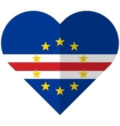 Cape verde flat heart flag vector
