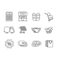 icons shop set vector image