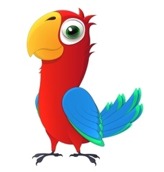 parrot Cute chick with big and kind eyes Cartoon vector image
