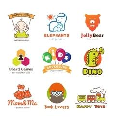 Set of children goods logos vector image
