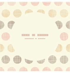 Vintage textile polka dots oval frame seamless vector image