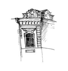 Window of mansion vector