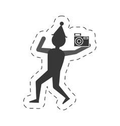 man take a picture icon design vector image