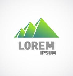 Mountains or pyramids logo template Fundamental vector image vector image