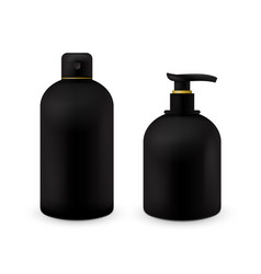 realistic cosmetic bottle mock up set isolated vector image vector image
