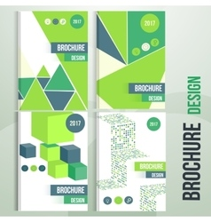 Set of brochure cover templates with vector image