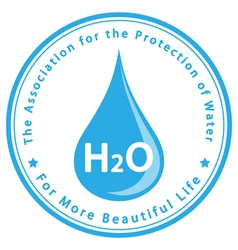 The Association for the Protection of Water vector image