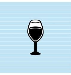 wine cup design vector image