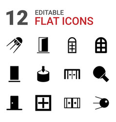 12 inside icons vector