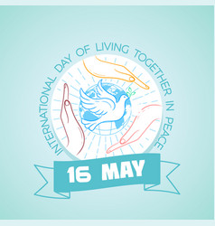 15 may living together in peace vector