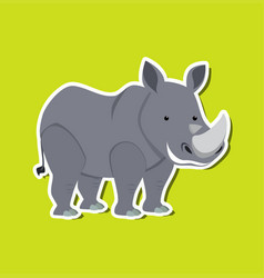 a rhinoceros character sticker vector image