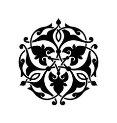 Abstract circle floral ornamental decor vector