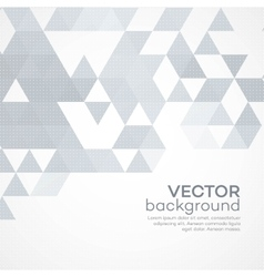 Abstract template background with triangle shapes vector