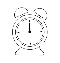 Alarm clock time alert hour icon vector