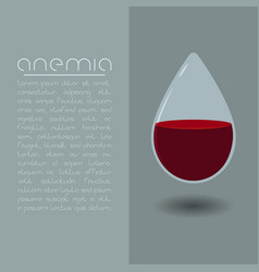 Anemia design concept drop of blood vector