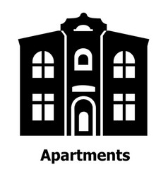 Apartments icon simple black style vector