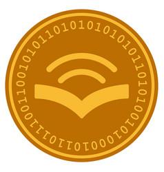 audiobook digital coin vector image