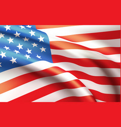 background waving in wind american flag vector image