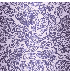 Baroque pattern with birds and flowers purple vector image