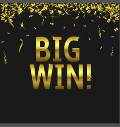 big win background vector image