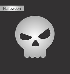 Black and white style icon halloween emotion skull vector