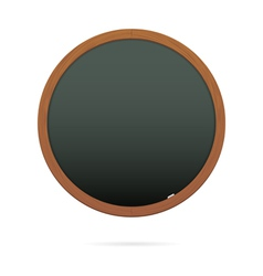 Blackboard in the shape of circle vector image