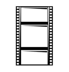 blank film strip negative border hole vector image