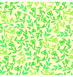 bright spring flowers seamless pattern vector image