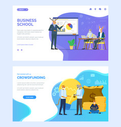 Business school and training animals websites vector