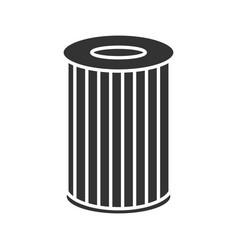 Car air filter glyph icon vector