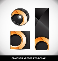 Cd Dvd cover design orange circle vector
