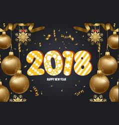 Christmas 2018 background with christmas balls vector