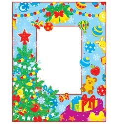 Christmas border vector