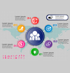 circle profile rating infographicfor your business vector image
