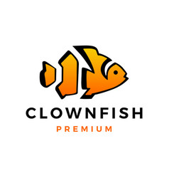 Clown fish aquarium logo icon vector