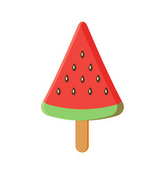 Colorful watermelon ice cream with stick vect vector