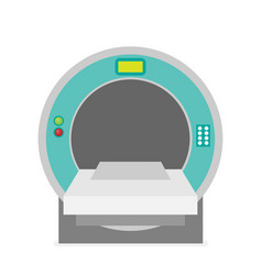 computed tomography concept flat vector image