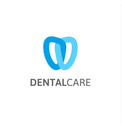 Dental care icon dentist clinic logo vector