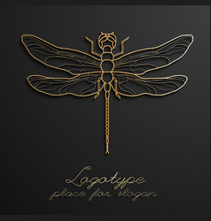 Dragonfly logo design eps10 vector
