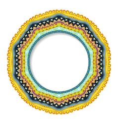 Geometric decorative round rosette vector