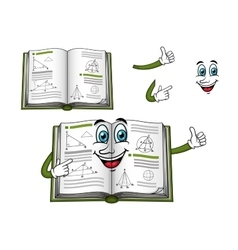 Geometry happy textbook cartoon character vector