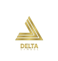Golden Delta sign vector image