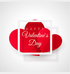 greeting card with valentines day heart with text vector image